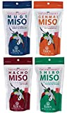 Eden Organic Miso Variety Pack with Mugi, Genmai, Hacho, Shiro in 12.1-oz Resealable Pouches (4-Pack)