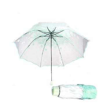 mit Schutzh/ülle Taschen-Regenschirm pink Farbe