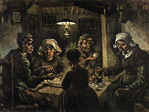 The Potato Vincent Gogh Van Eaters (Set: Vincent Van Gogh, The Potato Eaters, 1885 Poster Art Print (32x24 inches) and 1x 1art1 Collection Poster)