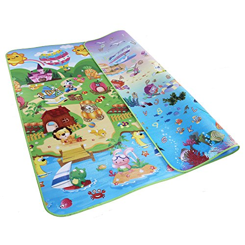 UPC 725186862623, Garwarm 79×71 Inches Extra Large Baby Crawling Mat Non Toxic Baby Play Mat Game Mat,0.2 Inch Thick