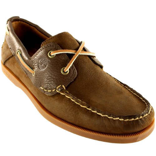Mens Timberland Earthkeepers Heritage 2 Eye Lace Leather Boat Shoes Brown STOxmRZ21W