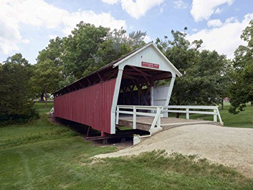 Photograph | The Cutler-Donahoe Bridge, one of six remaining covered bridges (of 19) in Madison County, Iowa| Fine Art Photo Reporduction 14in x 11in