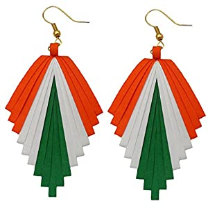 Designers Collection Paper Earrings For Women's, Multicolored