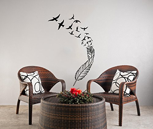 Cheap  Wall Decals Feather Birds Nib Style Feather Peacock Wall Vinyl Decal Stickers..