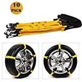 Tire Chains Anti-Slip Snow Chain Easy Installation for Emergencies and Road Trip Fit Car SUV Truck