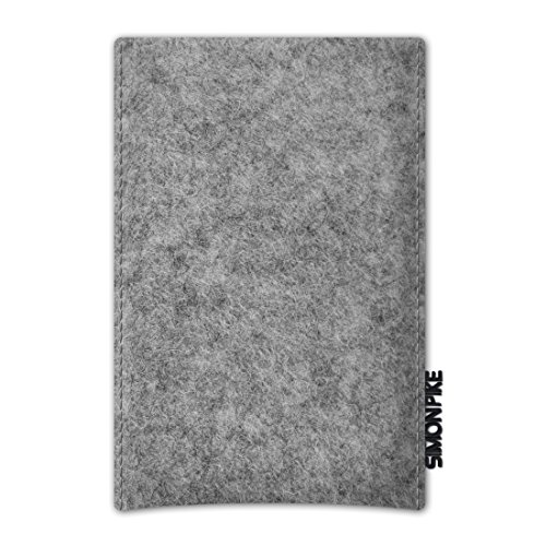 Simon Pike Boston BASIC Wollfilz Handytasche für Samsung Galaxy S3 Mini grau