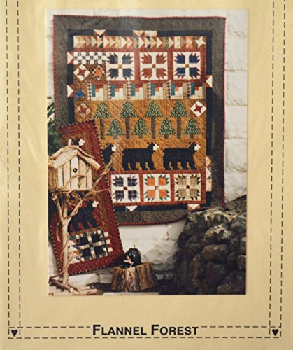 Sew Cherished Flannel Forest Wall Hanging Pattern 42.5 X 52'' by Flannel Forest