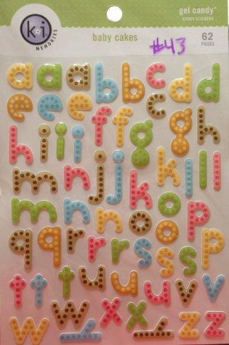 ki Memories Gel Candy Epoxy Stickers - Baby Cakes Alphabet #43