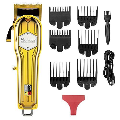 SURKER Cortadora de cabello Cortapelos para hombres Maquina de cortar pelos Profesional Cortadora de barba USB…