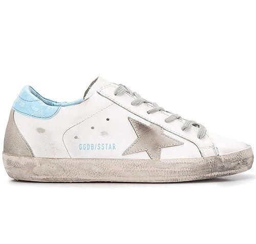 272080ef79c9c Golden Goose Scarpe Donna Sneaker Superstar Vintage G34WS590.M53 Bianca  Azzuro (38 EU)