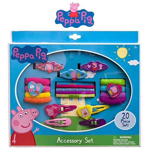 [Peppa Pig Girls Hair Accessories Set Clips Barrettes Terries Elastics] (Bollywood Costumes For Men)