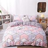 DEALS FOR LESS- King Size Bedsheet, 6 piece Duvet Cover Bedding Set, MarbleDesign.