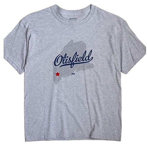 Otisfield Maine Me Map Greatcitees Unisex Souvenir T Shirt