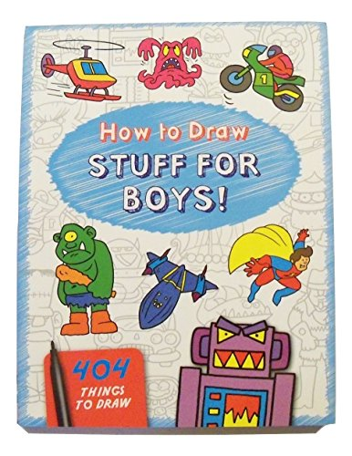 Educational How to Draw Book ~ Stuff for Boys (404 Monsters, Things that Go, Manga Characters, Superheroes and More; (Thing Superhero)