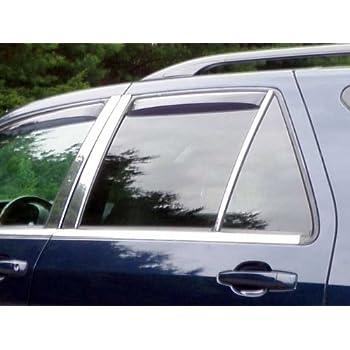 4 Pc: Stainless Steel Pillar Post Trim Kit, 4-Door, SUV PP50260 QAA FITS SRX 2010-2016 Cadillac