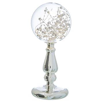 Lámpara de diseño clásica Plateada de Cristal para salón ...