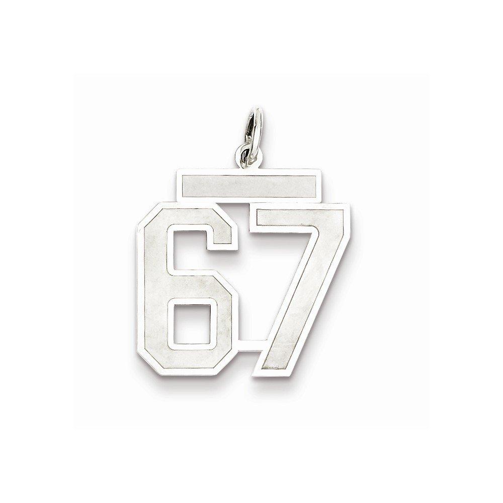 18mm x 22mm Jewel Tie 925 Sterling Silver Medium Satin Number 67