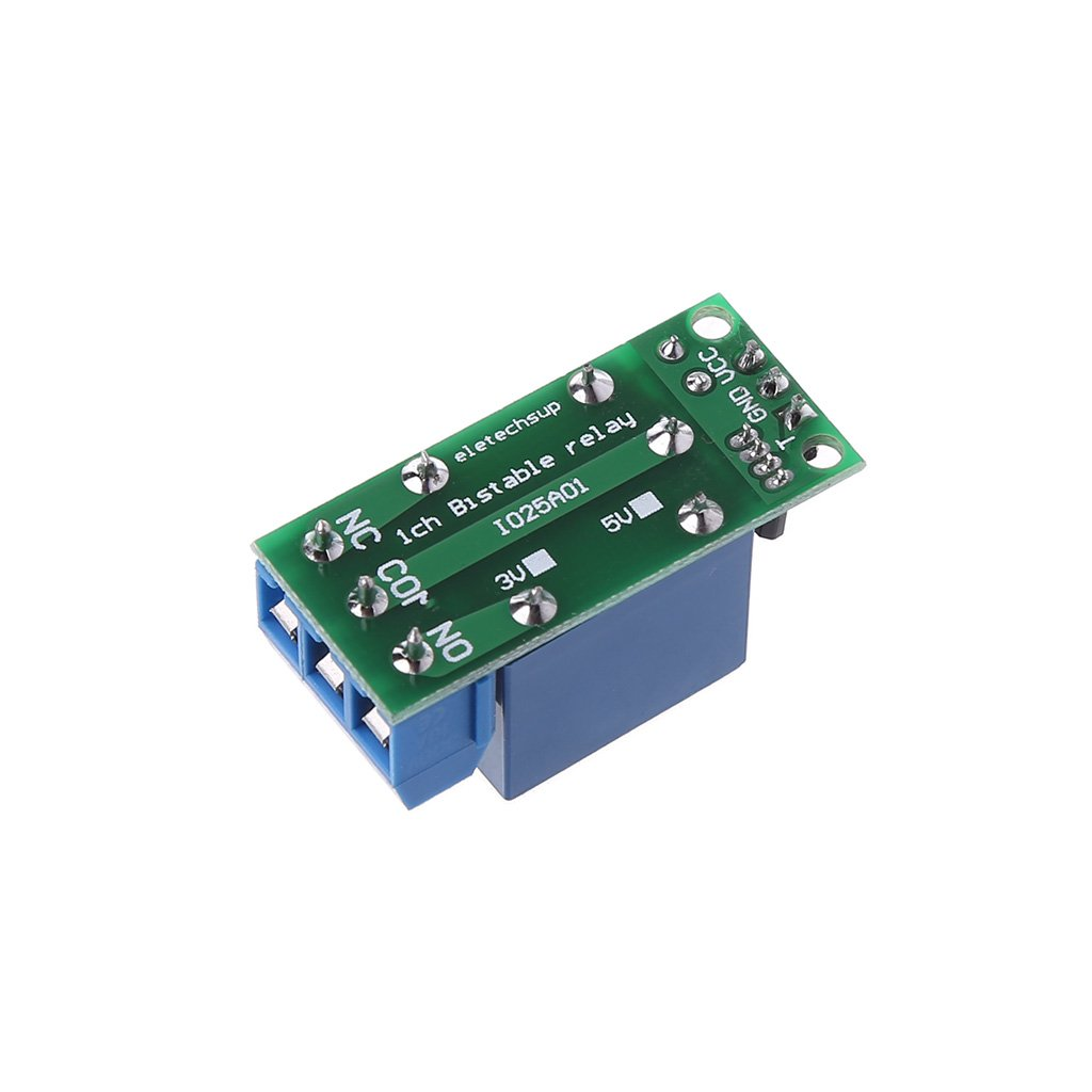 NNGUBIU IO25A01 5 V Flip-Flop Riegelrelais Modul Bistable selbstschlie/ßender Schalter Low Pulse Trigger Board