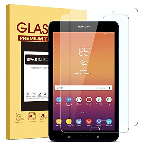 [2 Pack] Galaxy Tab A 8.0 Screen Protector-2017 Release, SPARIN [Tempered Glass] [Anti-Scratch] [Bubble-Free] Screen Protector for Samsung Galaxy Tab A 8.0 Inch (WiFi Tablet, SM-T380)