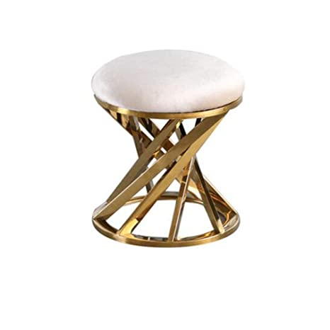 Incredible Amazon Com Ycsd Luxury Vanity Stool Metal Round Makeup Caraccident5 Cool Chair Designs And Ideas Caraccident5Info