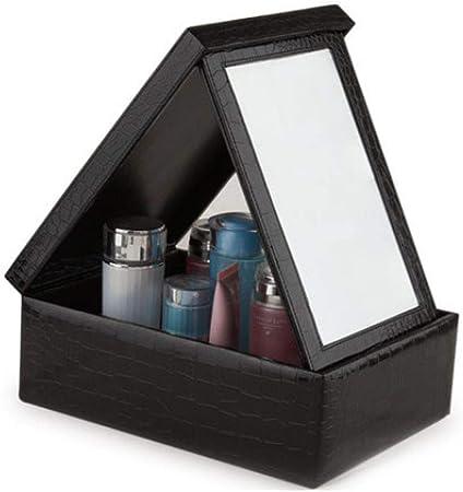 Liuhoulin Estuche de cosméticos niñas Caja de Almacenamiento de Madera de Mesa de joyería de Madera para Adolescentes con tocador en el Espejo Caja de Almacenamiento de cosméticos: Amazon.es: Hogar