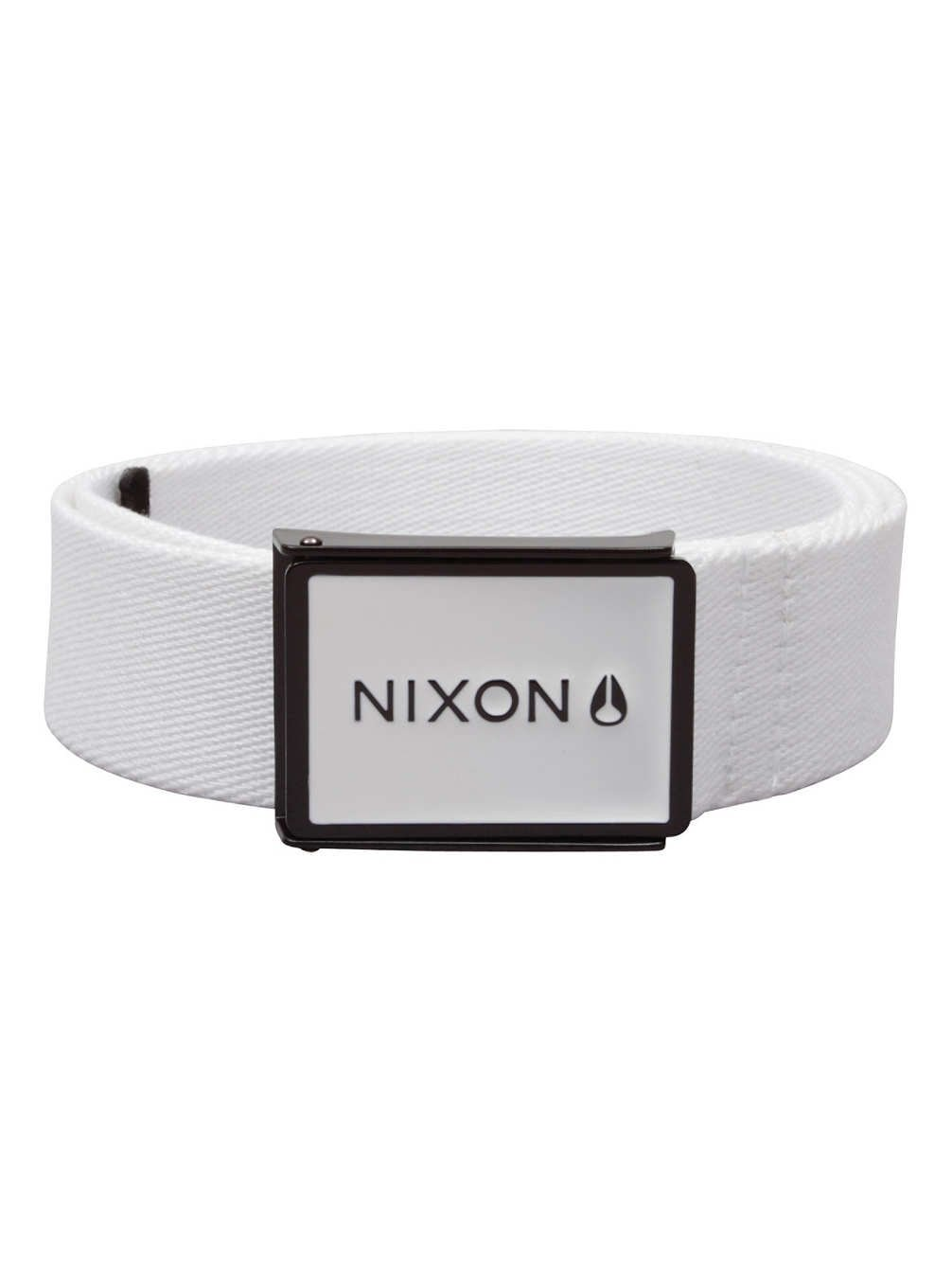 Nixon Women's Woven Wordmark Belt Metal Buckle Enamel Wings