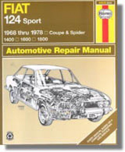 H34010 Haynes Fiat 124 Sport Coupe Spider 1968-1978 Auto Repair Manual