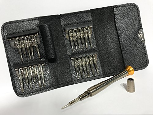 25 in 1 Precision Screwdrivers Set,Repair opening Tool Kit - Torx Phillips Screwdriver with Black Bag for Mobile Phone, PC Laptop, Macbook, Tablet , iPad, Computers by JustJollyCart