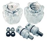delta bathroom faucet leak repair DANCO Complete Faucet Rebuild Trim Kit for Delta Faucets, Acrylic, 1 Kit (39675)