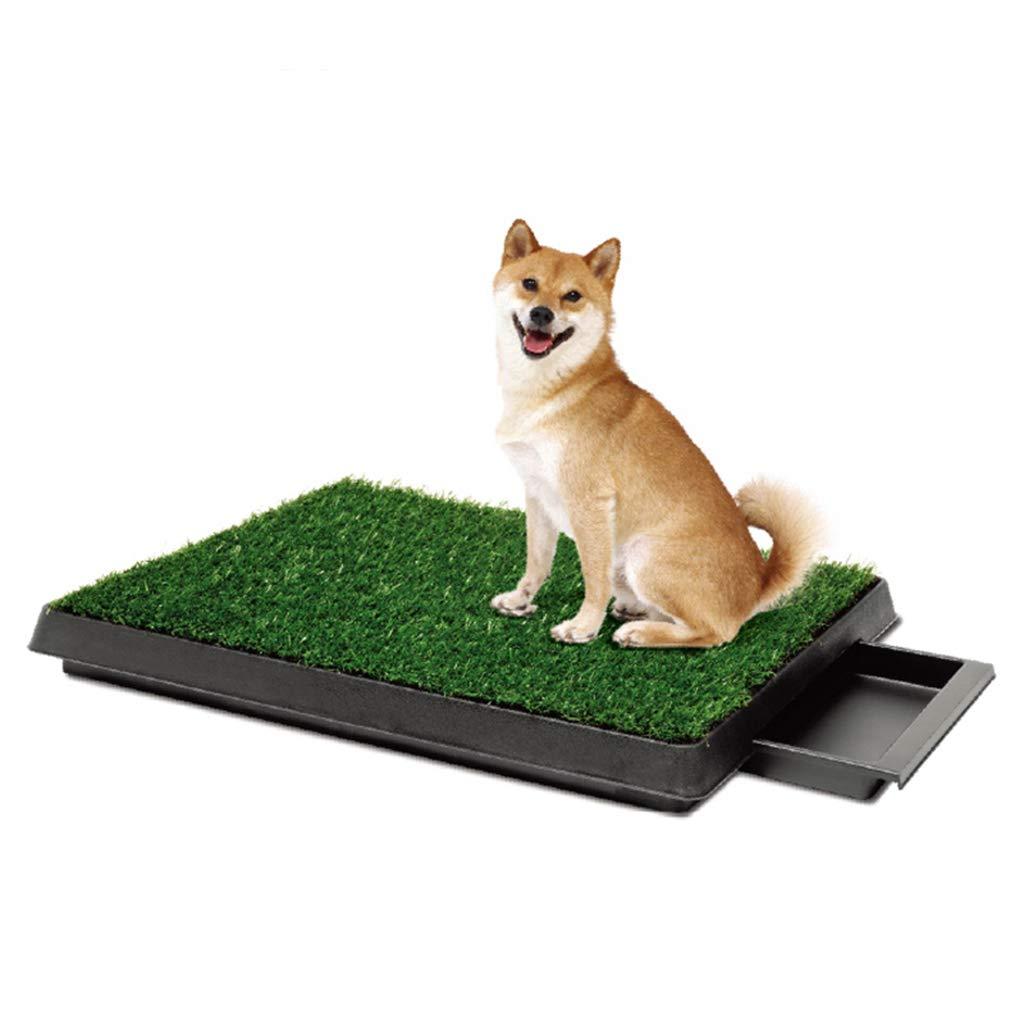 LVCS Ba/ño De Mascotas Aseo para Perros Abdominales Cesped Sintetico Bandeja De Inodoro Adecuado para Perros Peque/ños Tama/ño : L