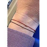 Mens Thin Bracelet, Mens Bracelet Copper, Thin Red Cord Bracelet, Protection Red Bracelet