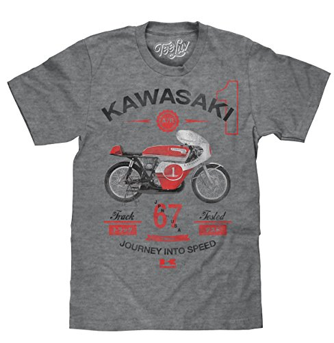 Tee Luv Kawasaki Motorcycle T-Shirt - Journey Into Speed A7R Shirt (Small)