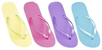 7ef375229447d Ladies Summer Plain Pastel Colour Flip Flops (UK 3/4, mint): Amazon ...