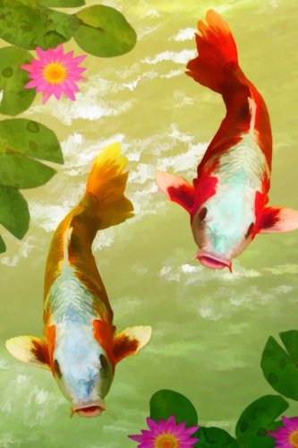 (Japanese Koi Lined Journal: 200 page lined blank journal for Japanese Koi fish enthusiasts.)