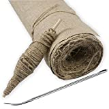 Burlap Roll, Jute Twine, and Needle - 40 inches Wide and 5 Yards Long- for Crafts, Plant Protection and Storage