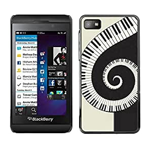LECELL -- Funda protectora / Cubierta / Piel For Blackberry Z10 -- Music Spiral Piano --