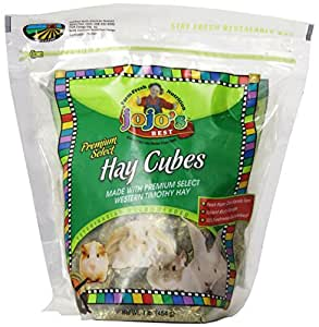 Standlee Hay Company Premium Timothy Hay Mini Cubes Pet Food Bag, 1-Pound