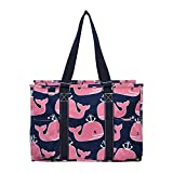 N Gil All Purpose Organizer Medium Utility Tote Bag 3 (Whale Anchor Navy Blue)