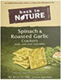Back To Nature Crackers, Spinach and Roasted Garlic, 6.5 Ounce