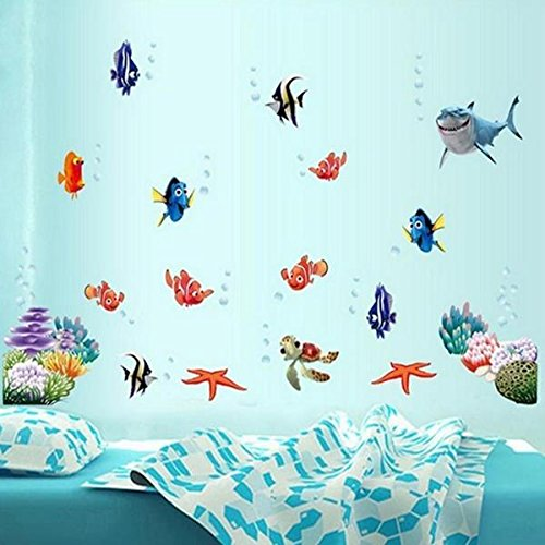 Wall Art - Underwater World 3d Wall Stickers Water Sticker - (Global Election Systems)