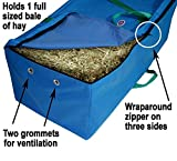 Derby Originals Nylon Hay Bale Bag-Covers, Turquoi...