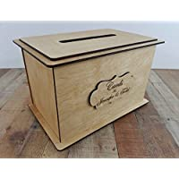 WoodCard Boxes for wedding reception - Personalized Card Box - Wedding Keepsake Box - Wood Card Box - Wedding Card Box with Slot - Card Box for Wedding