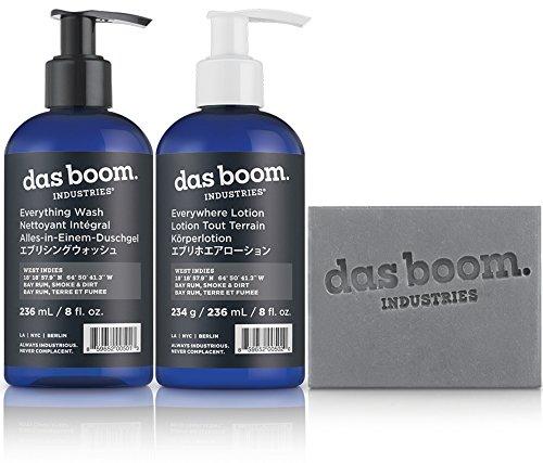 das-boom-body-basics-set-soap-lotion-wash-west-indies-bay-rum-smoke-dirt