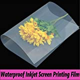 800 Sheets,Waterproof Inkjet Silk Screen Printing Transparency Film (800 sheets 13''x18'')