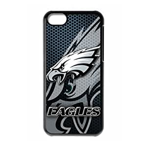 Changetime Fashion New Ultra clear color high-definition image NFL iPhone 5C case Philadelphia Eagles iPhone 5C Cover Cute NFL Philadelphia Eagles iPhone 5C Case