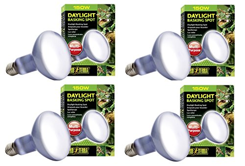 (Exo Terra Sun-Glo Basking Spot Lamp, 150-Watt/120-Volt (4 Pack))