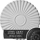 Ekena Millwork CM20SHSGS Shakuras Ceiling Medallion, Steel Gray