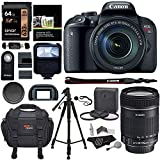 Canon EOS Rebel T7i EF-S 18-135 is STM Kit, 64GB Memory Card, Tripod, Filter Kit, Ritz Gear Camera Bag and Accessory Bundle