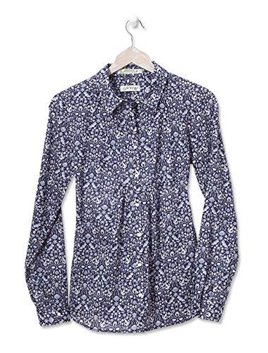 Orvis Women's Wrinkle-resistant Indigo-floral Shirt, 20