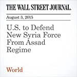 U.S. to Defend New Syria Force From Assad Regime | Adam Entous
